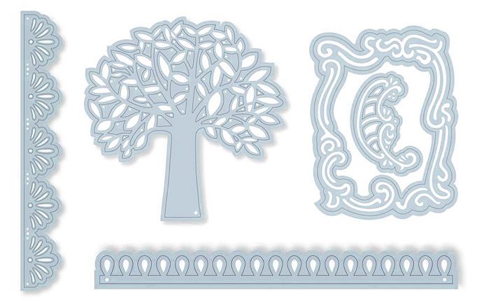 Метални шаблони за изрязване на фигури от хартия