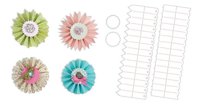 Шаблони за изрязване на хартиени розетки
