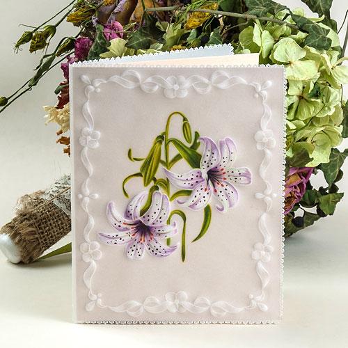 Картичка Пергамано с цветя