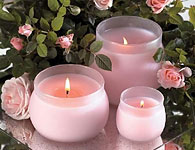 Розови свещи - зодия телец, овен, везни