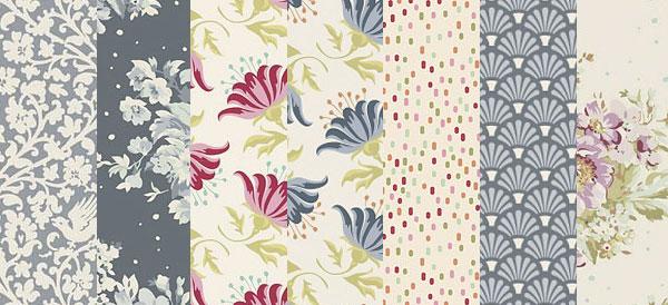Tilda Painting Flowers Fabrics