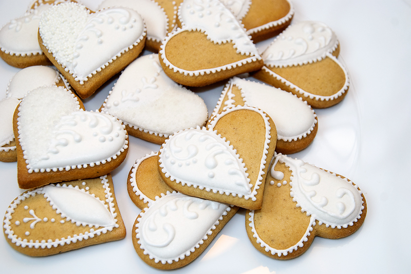 wedding cookies, st. Valentines cookies