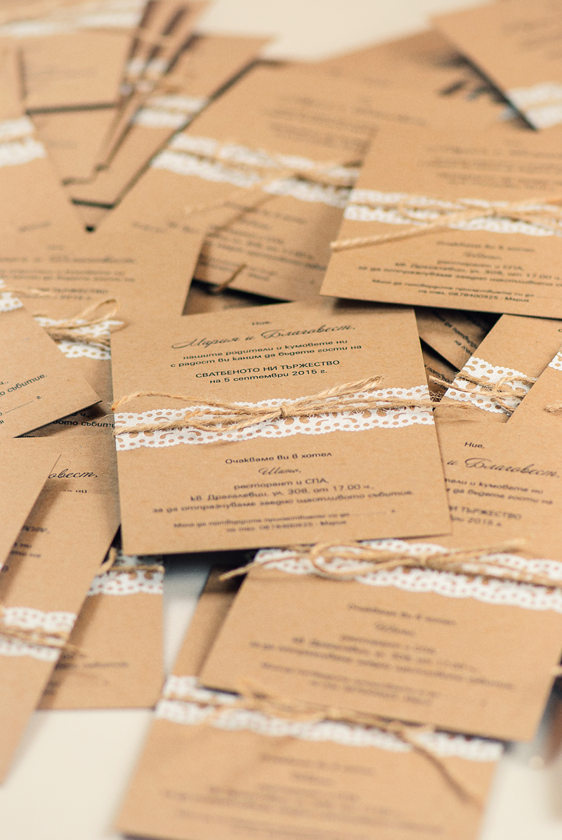recycled paper wedding invitations with paper lace