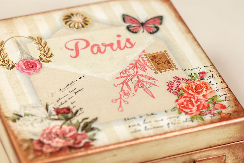 Letters from Paris - wooden box