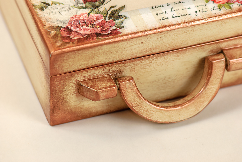 Wooden Briefcase jewelry box