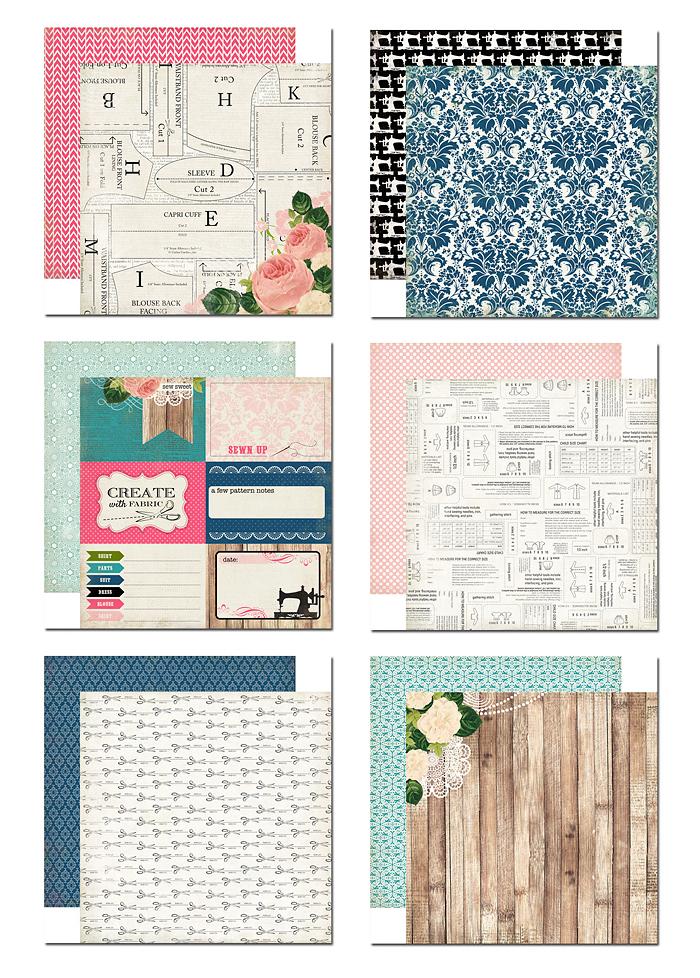 Комплект хартии Sew Lovely